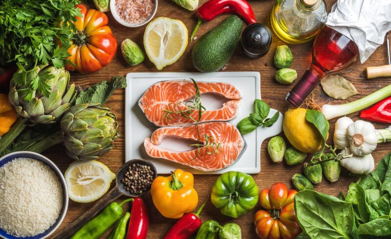 mittelmeerdiät, gemüse, Fisch, Reis, olivenöl, artischocken, zitrone,